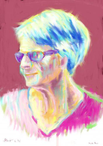 Brigitte M. - digital, 2480×3508 px, 2016